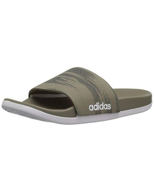 Men's Adilette CF+ Link Gr Slide Sandal Core Black/White/Core Black 11 M US