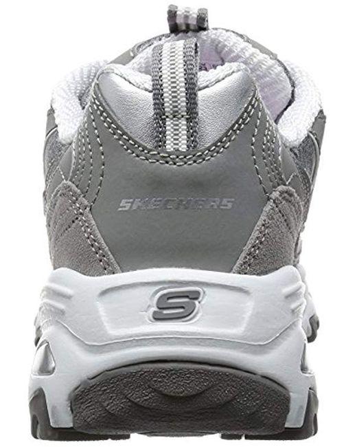 Skechers Leather D'lites Me Time Low top Sneakers in Grey