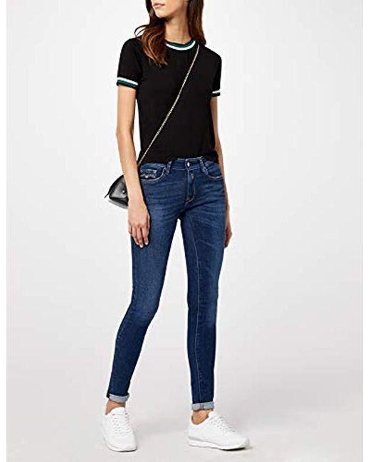 Jeans REPLAY donna LUZ new skinny fit dark indigo power stretch denim