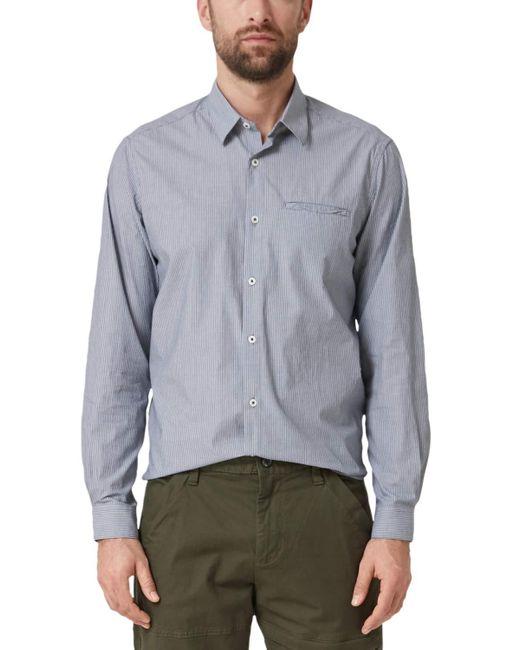 S.oliver Freizeithemd mit langem Arm in grau gestreift Größe XL in Blue für Herren