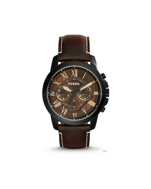 Chronographe Quartz Montre avec Bracelet en Cuir FS5088 Fossil pour homme en coloris Brown