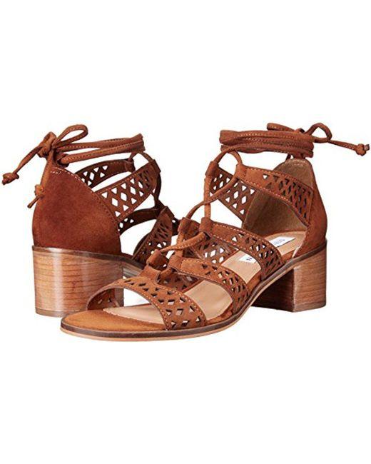 ... Steve Madden - Brown Rande Dress Sandal - Lyst ...