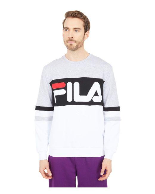 Freddie Sweatshirt White/Light Grey Marl/Black L di Fila in Gray da Uomo