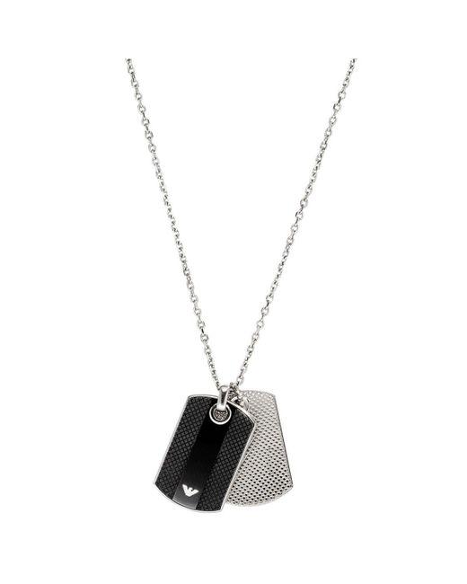 Bijoux EGS1542040 Emporio Armani pour homme en coloris Metallic