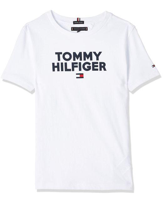 Logo tee S/s Camiseta Tommy Hilfiger de hombre de color White