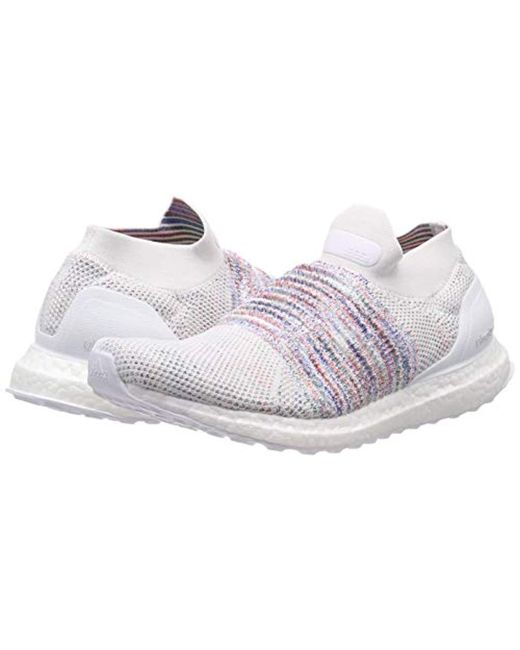 20fc24b996f56 ... Adidas - White Ultraboost Laceless Running Shoes for Men - Lyst ...