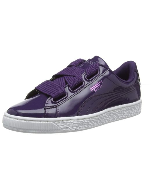 Basket Heart Patent Wn's PUMA en coloris Purple