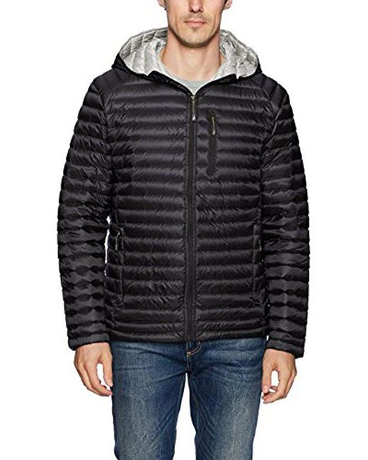 Nautica - Black Ultra Light Quilted Down Jacket for Men - Lyst