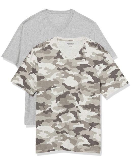 2-Pack Loose-Fit V-Neck T-Shirt Fashion-t-Shirts di Amazon Essentials in Gray da Uomo