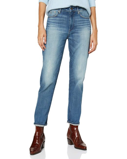 3301 High Waist Straight 90's Ankle Jeans di G-Star RAW in Blue