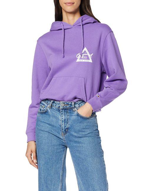 Donna Gmd Logo Hoodie Cardigan di Calvin Klein in Purple