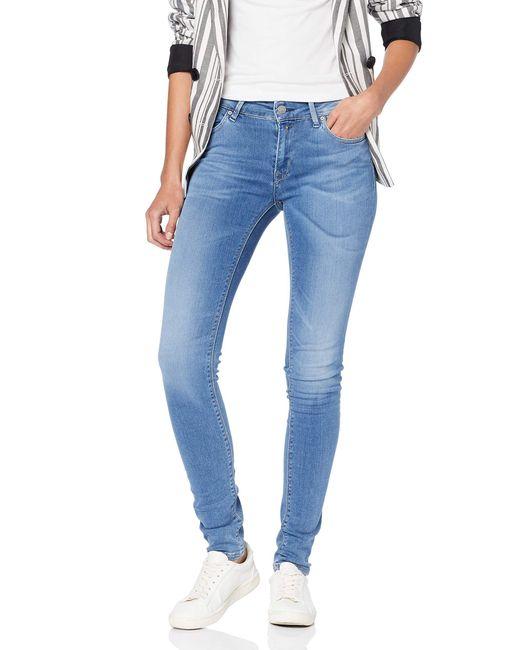 Luz High Waist Jeans di Replay in Blue