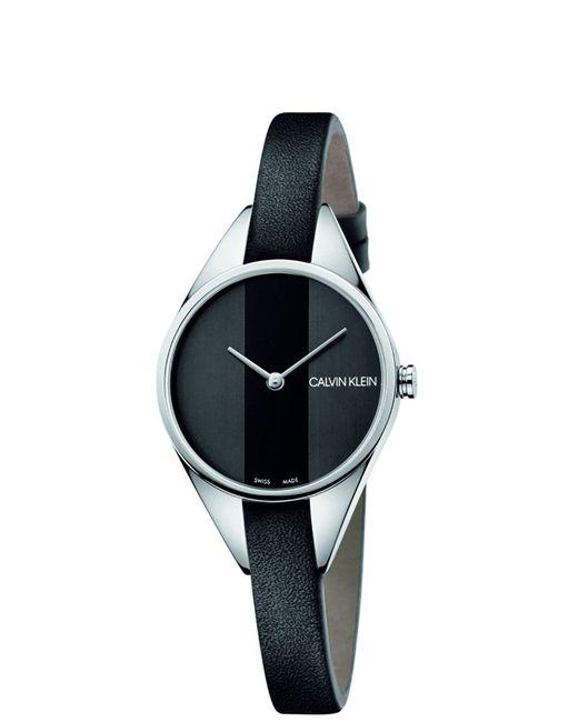 Quartz Montre avec Bracelet en Cuir K8P231C1 Calvin Klein en coloris Black