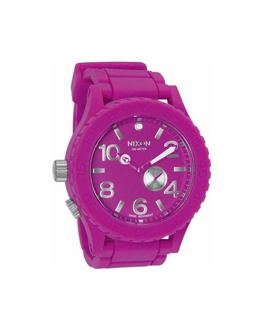 Nixon A236644 A236644 – 00 Purple Polyurethane Watch For for men