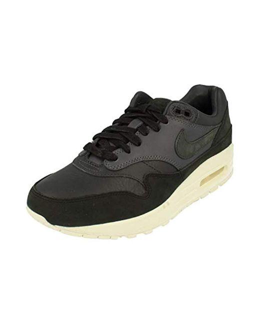Nike Black Lab Air Max 1 Pinnacle Real Leather Sneaker Beige 859554 200 for men