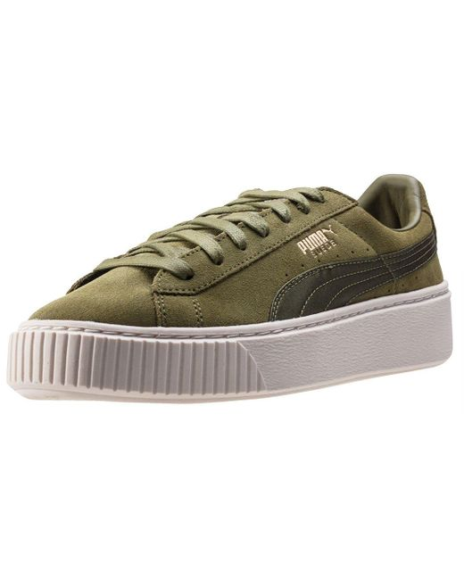 PUMA Green Sneaker Suede Platform Oliv