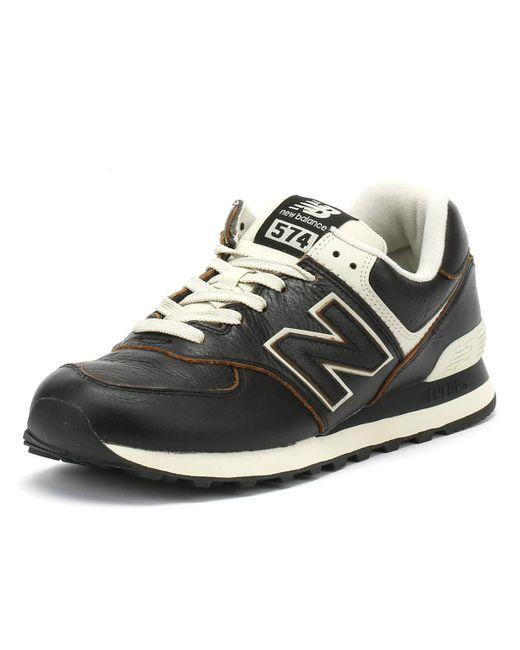574v2 New Balance pour homme en coloris Noir - 45 % de réduction ...