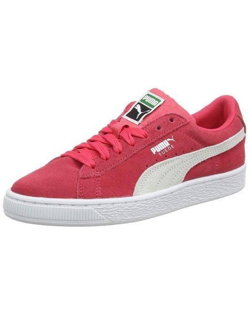 PUMA Pink Suede Classic Jr Sneaker