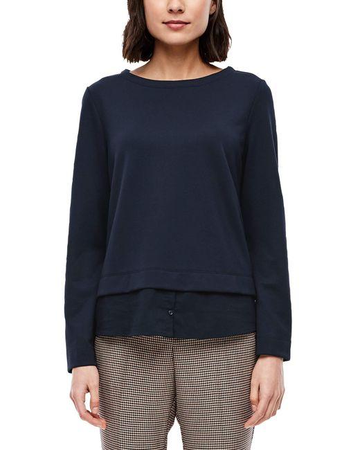 S.oliver Blue 14.910.41.2843 Sweatshirt