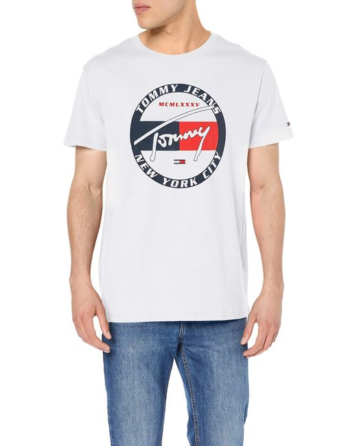 short sleeve t shirt Tommy Hilfiger Circle Graphic Tee in Navy Blue