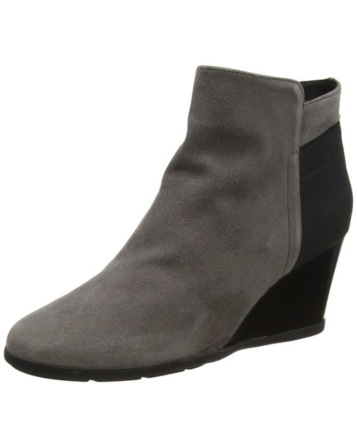Geox Brown Inspiration Wedg 4 Ankle Bootie