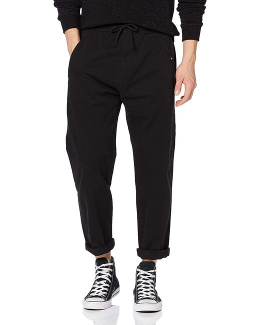 Superdry Edit Taper Drawstring Pant Hose in Black für Herren