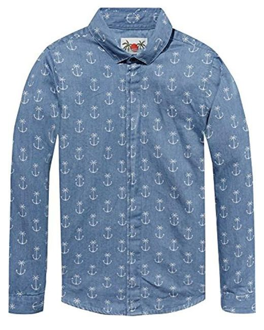 Scotch & Soda Jungen Dress Shirt Hemd in Blue für Herren