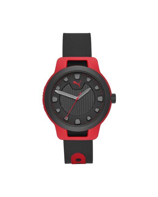 Orologio Quarzo con Cinturino in Nessuno 4013496511871 di PUMA in Red da Uomo