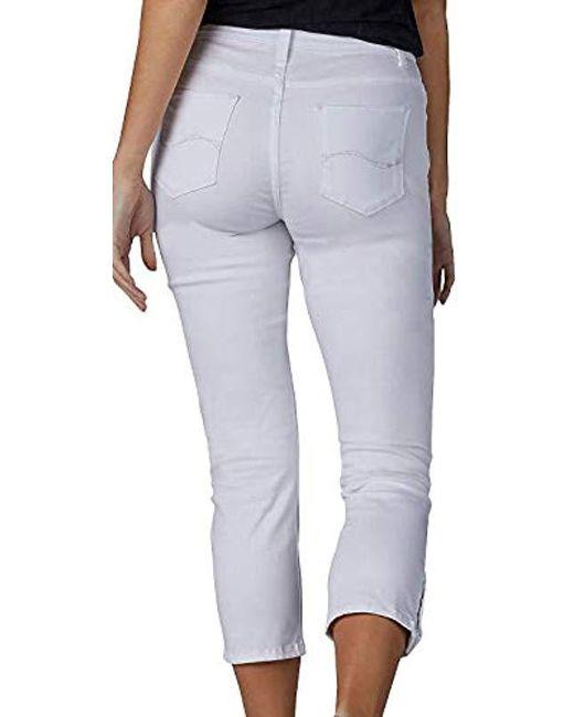 865dff76 ... Lee Jeans - White Petite Modern Series Midrise Fit Jayla Capri Jean -  Lyst