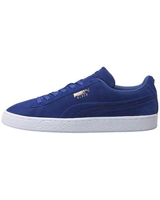 design intemporel 5e520 305be PUMA Suede Classic Debossed Q3 Fashion Sneaker, Mazarine ...
