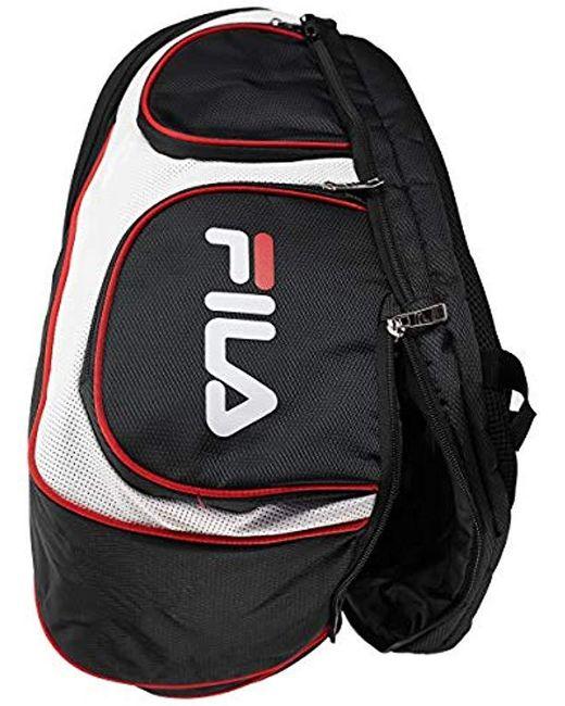 Men's Black Heritage Tennis Backpack