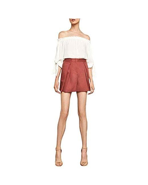 BCBGMAXAZRIA Pink Pleated Cotton Short