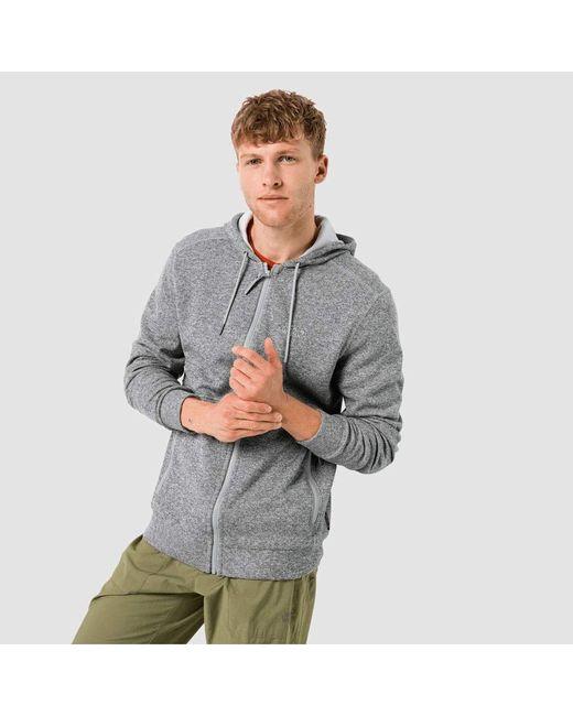 Jack Wolfskin Finley Hooded Jacket M Fleece-Jacke in Gray für Herren