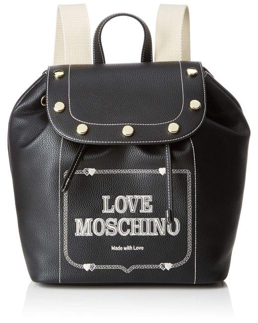 Grain Pu di Love Moschino in Black