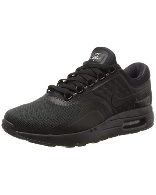Nike Men Air Max Zero Essential Running Shoes Trainer Black Blue 876070 001
