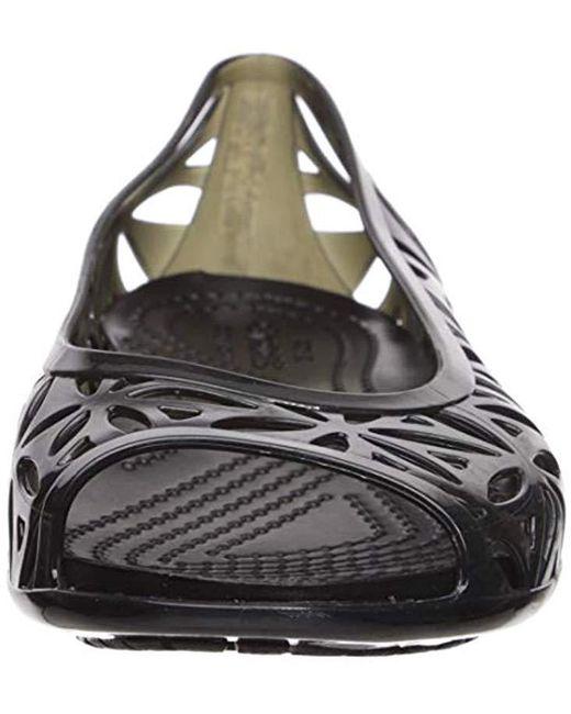 7b4191afd ... Crocs™ - Black Isabella Jelly Ii Flat (barely Pink oyster) Women s Flat  ...