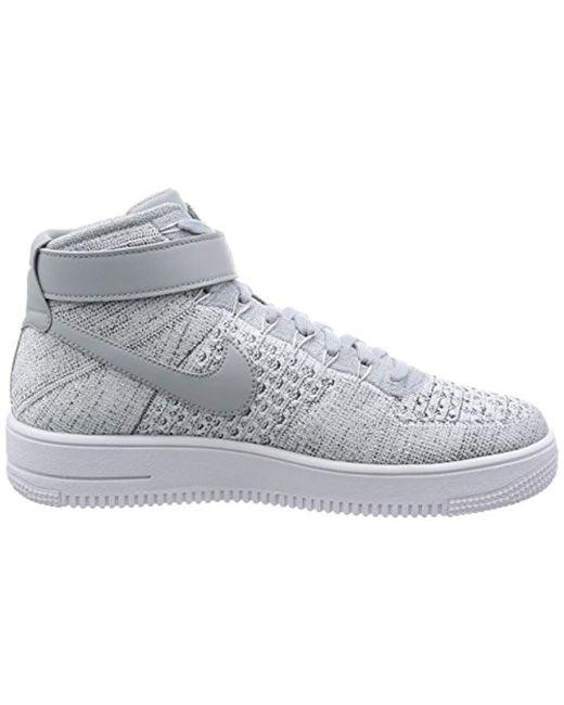 best service 09d0e b32ac Nike Air Force 1 Ultra Flyknit Mid Sneaker Gray 817420 003 ...