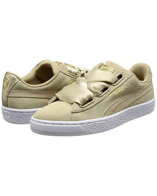 buy popular 5ceb1 aecd1 Women's Natural Suede Heart Safari Low-top Trainers