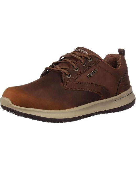 Skechers Brown Delson- Antigo Oxfords for men