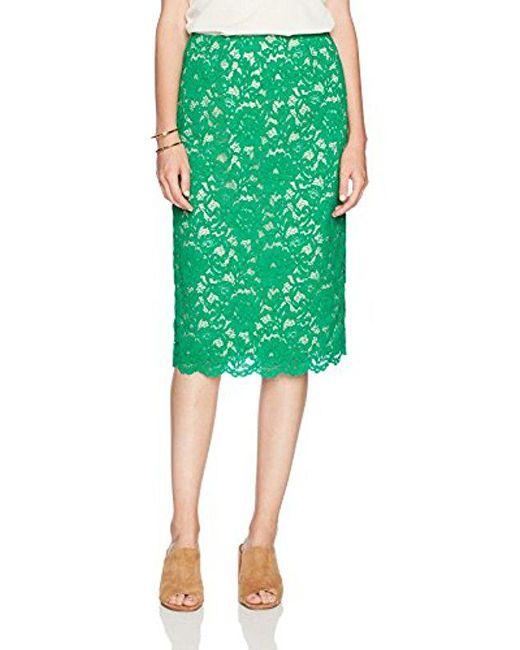 PARIS SUNDAY - Green Lace Pencil Skirt - Lyst