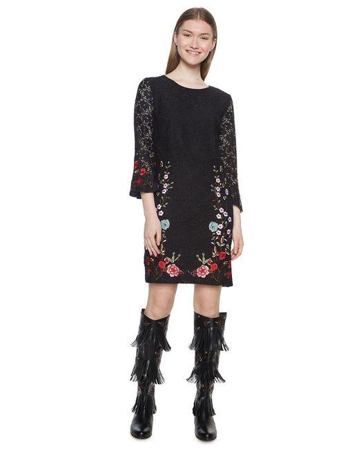 Desigual Synthetik Vest Vermond Kleid In Schwarz Sparen Sie 5 Lyst