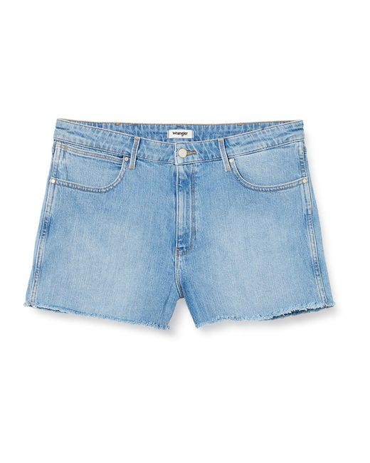 Boyfriend Short Pantaloncini di Wrangler in Blue