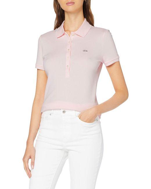 PF7845 Polo Lacoste en coloris Pink