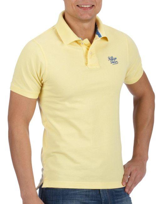 Hilfiger Denim Pilot 1953522645 Polo di Tommy Hilfiger in Yellow da Uomo