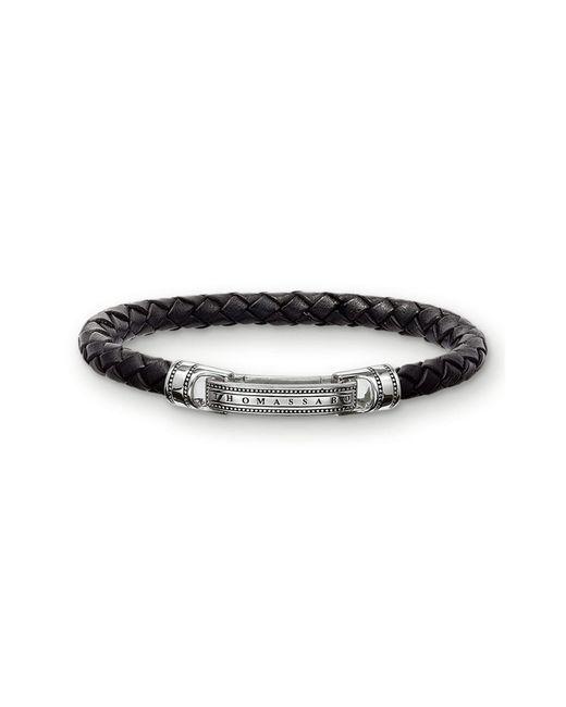 Bracelet Cuir Noir 17.5cm LB40-008-11-S Thomas Sabo en coloris Black