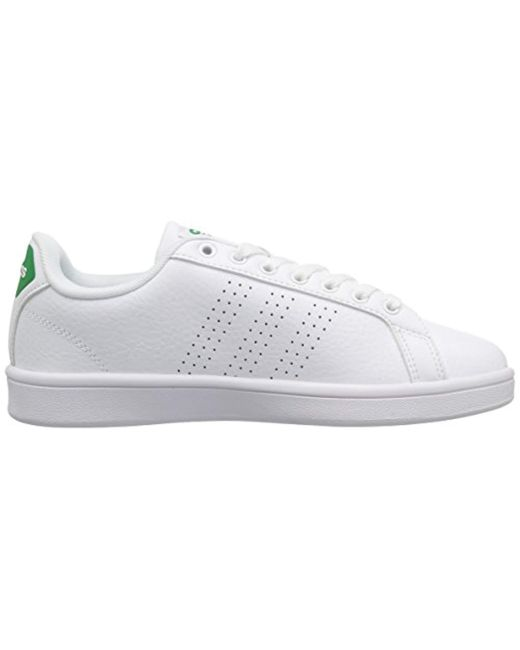 adidas neo cloudfoam advantage clean mens leather sneakers
