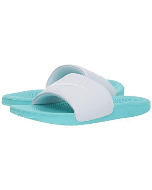 6b202ad06 ... Nike - Black Kawa Slide Sandal for Men - Lyst ...