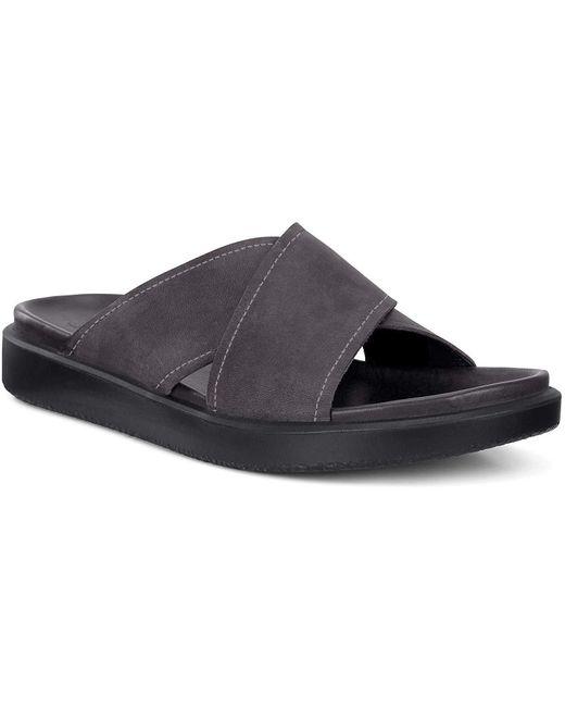 Ecco Flowt LX Slide Flache Sandale in Black für Herren