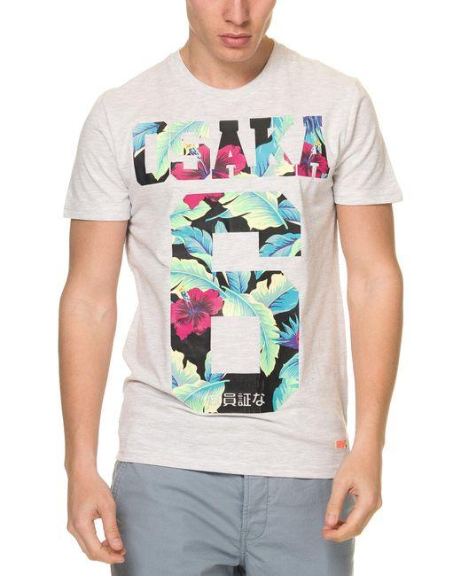 T-SHIRT OSAKA HIBISCUS Superdry pour homme en coloris Multicolor