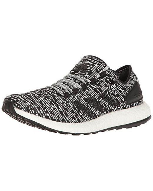 Adidas Black Performance Pureboost Running Shoe for men